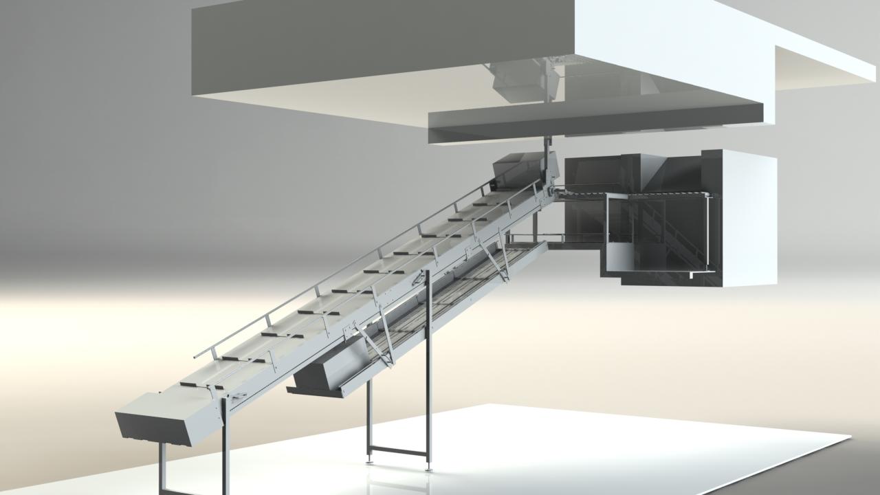 Elevateur de bac 3D